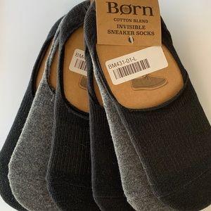 Born 6 pair invisible socks mens size 6-12